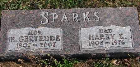 SPARKS, HARRY K. - Cedar County, Nebraska | HARRY K. SPARKS - Nebraska Gravestone Photos