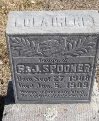 SPOONER, LULA IRENE - Cedar County, Nebraska | LULA IRENE SPOONER - Nebraska Gravestone Photos