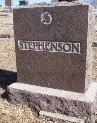 STEPHENSON, FAMILY STONE - Cedar County, Nebraska | FAMILY STONE STEPHENSON - Nebraska Gravestone Photos