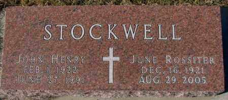 ROSSITER STOCKWELL, JUNE - Cedar County, Nebraska | JUNE ROSSITER STOCKWELL - Nebraska Gravestone Photos