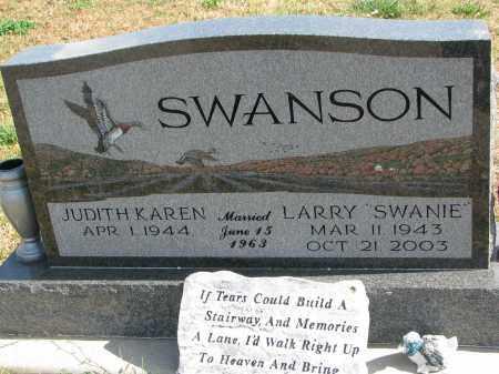 SWANSON, JUDITH KAREN - Cedar County, Nebraska | JUDITH KAREN SWANSON - Nebraska Gravestone Photos