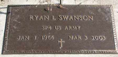 SWANSON, RYAN L. (MILITARY) - Cedar County, Nebraska | RYAN L. (MILITARY) SWANSON - Nebraska Gravestone Photos
