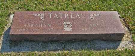 TATREAU, ABRAHAM - Cedar County, Nebraska | ABRAHAM TATREAU - Nebraska Gravestone Photos