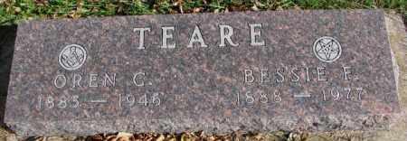 TEARE, OREN C. - Cedar County, Nebraska | OREN C. TEARE - Nebraska Gravestone Photos