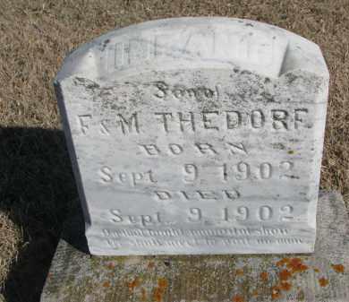 THEDORF, INFANT SON - Cedar County, Nebraska | INFANT SON THEDORF - Nebraska Gravestone Photos