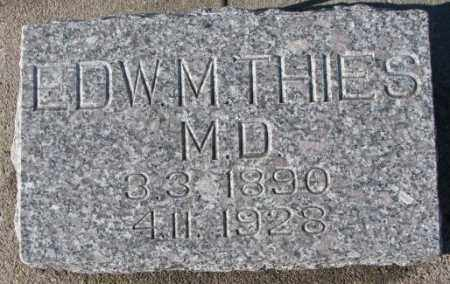 THIES, EDW M. - Cedar County, Nebraska | EDW M. THIES - Nebraska Gravestone Photos