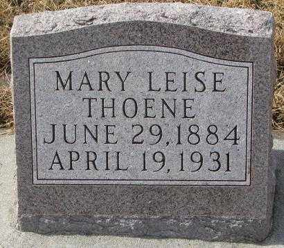 LEISE THOENE, MARY - Cedar County, Nebraska | MARY LEISE THOENE - Nebraska Gravestone Photos