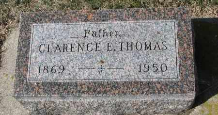 THOMAS, CLARENCE E. - Cedar County, Nebraska   CLARENCE E. THOMAS - Nebraska Gravestone Photos