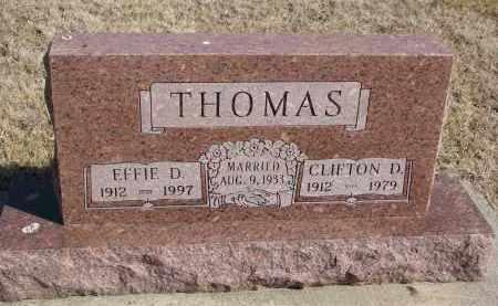 THOMAS, CLIFTON D. - Cedar County, Nebraska | CLIFTON D. THOMAS - Nebraska Gravestone Photos