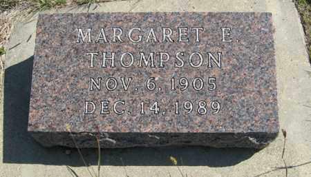 THOMPSON, MARGARET E. - Cedar County, Nebraska   MARGARET E. THOMPSON - Nebraska Gravestone Photos
