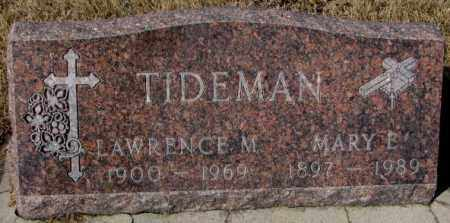 TIDEMAN, LAWRENCE M. - Cedar County, Nebraska | LAWRENCE M. TIDEMAN - Nebraska Gravestone Photos