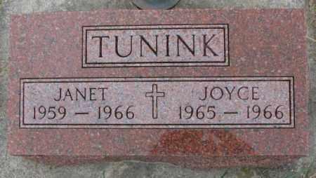 TUNINK, JANET - Cedar County, Nebraska | JANET TUNINK - Nebraska Gravestone Photos