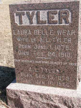 TYLER, LAURA BELLE - Cedar County, Nebraska | LAURA BELLE TYLER - Nebraska Gravestone Photos
