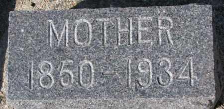WAGNER, MOTHER - Cedar County, Nebraska | MOTHER WAGNER - Nebraska Gravestone Photos