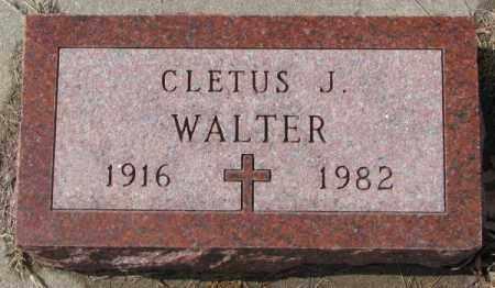 WALTER, CLETUS J. - Cedar County, Nebraska | CLETUS J. WALTER - Nebraska Gravestone Photos