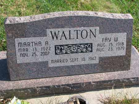 WALTON, MARTHA A. - Cedar County, Nebraska | MARTHA A. WALTON - Nebraska Gravestone Photos