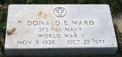WARD, DONALD E - Cedar County, Nebraska | DONALD E WARD - Nebraska Gravestone Photos
