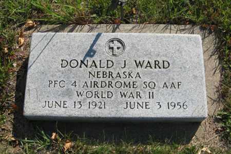 WARD, DONALD J. - Cedar County, Nebraska   DONALD J. WARD - Nebraska Gravestone Photos
