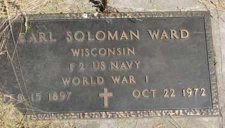 WARD, EARL SOLOMON - Cedar County, Nebraska | EARL SOLOMON WARD - Nebraska Gravestone Photos