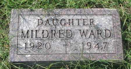 WARD, MILDRED - Cedar County, Nebraska   MILDRED WARD - Nebraska Gravestone Photos