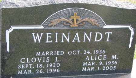 WEINANDT, CLOVIS L. - Cedar County, Nebraska | CLOVIS L. WEINANDT - Nebraska Gravestone Photos