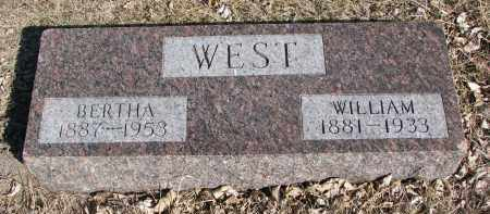 WEST, BERTHA - Cedar County, Nebraska | BERTHA WEST - Nebraska Gravestone Photos
