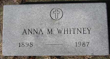 WHITNEY, ANNA M. - Cedar County, Nebraska   ANNA M. WHITNEY - Nebraska Gravestone Photos