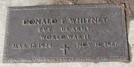 WHITNEY, DONALD F. - Cedar County, Nebraska | DONALD F. WHITNEY - Nebraska Gravestone Photos