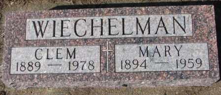 WIECHELMAN, CLEM - Cedar County, Nebraska   CLEM WIECHELMAN - Nebraska Gravestone Photos