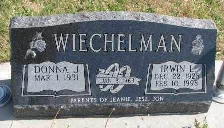 WIECHELMAN, DONNA J. - Cedar County, Nebraska | DONNA J. WIECHELMAN - Nebraska Gravestone Photos