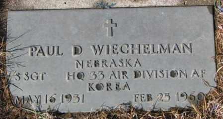 WIECHELMAN, PAUL D. - Cedar County, Nebraska | PAUL D. WIECHELMAN - Nebraska Gravestone Photos