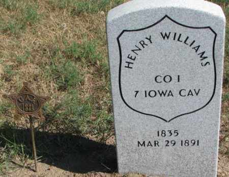 WILLIAMS, HENRY - Cedar County, Nebraska | HENRY WILLIAMS - Nebraska Gravestone Photos