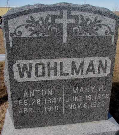 WOHLMAN, MARY H. - Cedar County, Nebraska | MARY H. WOHLMAN - Nebraska Gravestone Photos