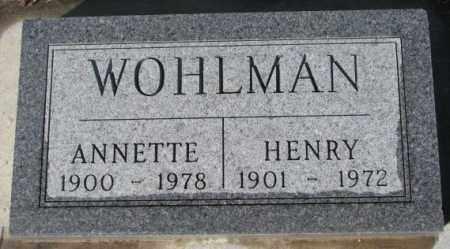 WOHLMAN, HENRY - Cedar County, Nebraska | HENRY WOHLMAN - Nebraska Gravestone Photos