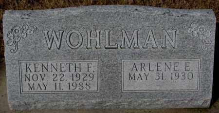 WOHLMAN, ARLENE E. - Cedar County, Nebraska   ARLENE E. WOHLMAN - Nebraska Gravestone Photos