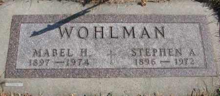 WOHLMAN, STEPHEN A. - Cedar County, Nebraska | STEPHEN A. WOHLMAN - Nebraska Gravestone Photos
