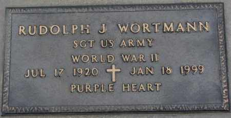 WORTMANN, RUDOLPH J. (WW II) - Cedar County, Nebraska   RUDOLPH J. (WW II) WORTMANN - Nebraska Gravestone Photos
