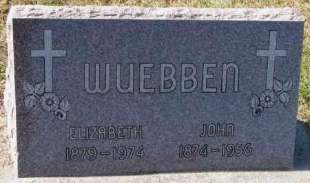 HOCHSTEIN WUEBBEN, ELIZABETH - Cedar County, Nebraska | ELIZABETH HOCHSTEIN WUEBBEN - Nebraska Gravestone Photos