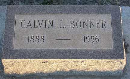 BONNER, CALVIN LEONARD - Chase County, Nebraska | CALVIN LEONARD BONNER - Nebraska Gravestone Photos