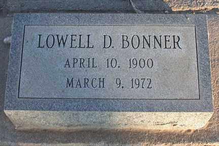 BONNER, LOWELL D. - Chase County, Nebraska | LOWELL D. BONNER - Nebraska Gravestone Photos