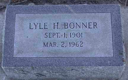BONNER, LYLE HUBERT - Chase County, Nebraska | LYLE HUBERT BONNER - Nebraska Gravestone Photos