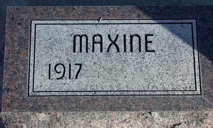 BONNER, MAXINE - Chase County, Nebraska | MAXINE BONNER - Nebraska Gravestone Photos