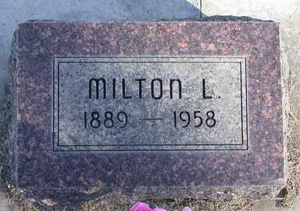BONNER, MILTON LEROY - Chase County, Nebraska   MILTON LEROY BONNER - Nebraska Gravestone Photos