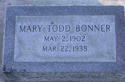 TODD BONNER, MARY ELIZABETH - Chase County, Nebraska | MARY ELIZABETH TODD BONNER - Nebraska Gravestone Photos
