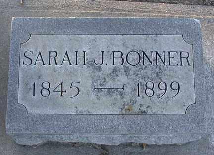 PLATT? BONNER, SARAH J. - Chase County, Nebraska | SARAH J. PLATT? BONNER - Nebraska Gravestone Photos