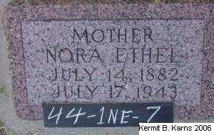 COUNCE, NORA ETHEL - Chase County, Nebraska | NORA ETHEL COUNCE - Nebraska Gravestone Photos