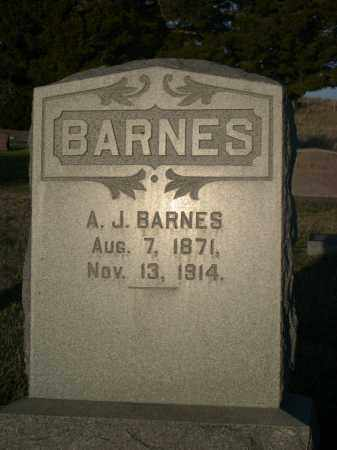 BARNES, A.J. - Cherry County, Nebraska | A.J. BARNES - Nebraska Gravestone Photos