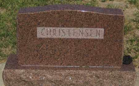 CHRISTENSEN., FAMILY STONE - Cherry County, Nebraska   FAMILY STONE CHRISTENSEN. - Nebraska Gravestone Photos