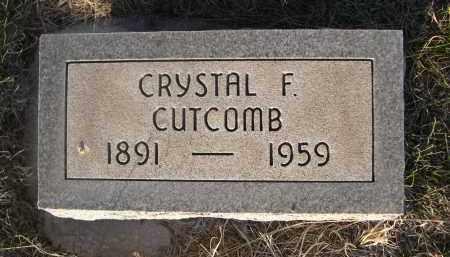 CUTCOMB, CRYSTAL F. - Cherry County, Nebraska | CRYSTAL F. CUTCOMB - Nebraska Gravestone Photos
