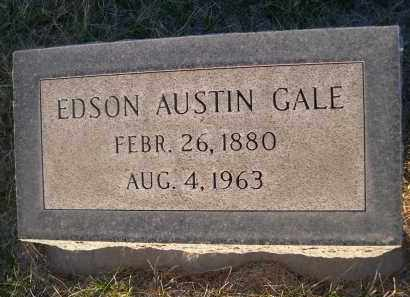 GALE, EDSON AUSTIN - Cherry County, Nebraska   EDSON AUSTIN GALE - Nebraska Gravestone Photos